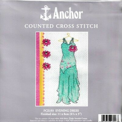 Anchor Evening Dress Gown Counted Cross Stitch Kit PCE193 Gift