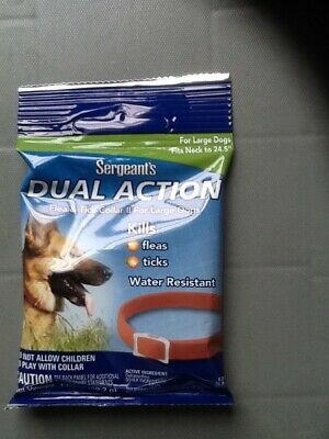 Sergeants Dual Action Flea and Tick Collar for Large Dogs. Fits neck to 24.5""