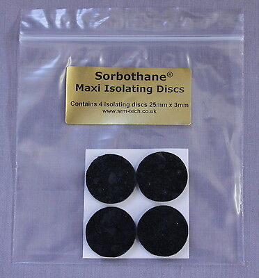Srm Tech Self-Adhesive Sorbothane Maxi Isolating Discs - 4 Pack - Great Value !!