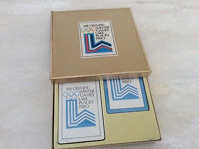 Vintage 1980 XIII OLYMPIC WINTER GAMES Lake Placid Playing Cards -Sealed Cards