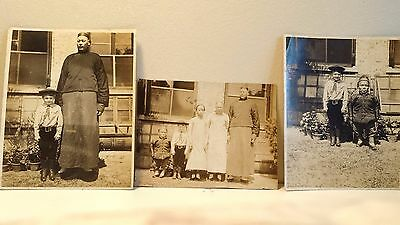 3 Original Antique Chinese Photographs ca. Late 19th or Early 20th Century