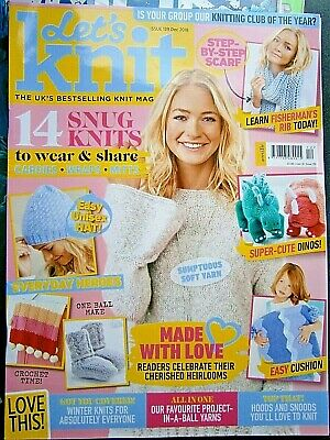 Let's Knit Magazine December 2018 (new) No Free Gifts