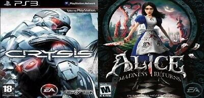 Alice Madness Returns + Crysis☑️PS3🎮Digital Game☑️Download☑️Please Read