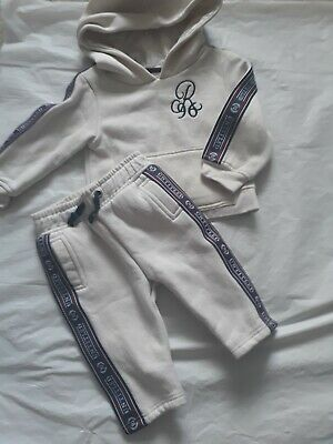 pretty cool new appearance factory outlets RIVER ISLAND BABY Boys Tracksuit Set Cream Joggers Hoodie ...