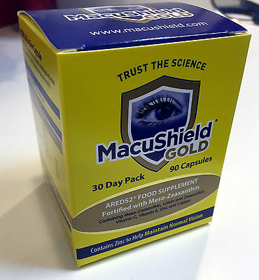 90-270 Macushield Gold Omega 3 triple-capsule eye care supplement 1 - 4 months.,