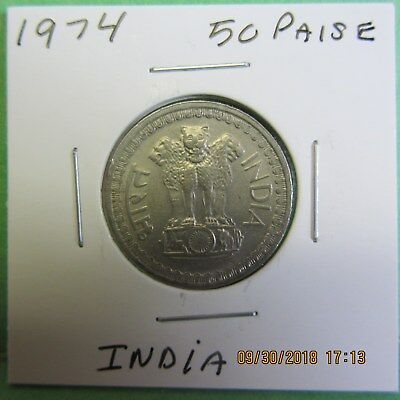 1974  India 50 Paise Coin