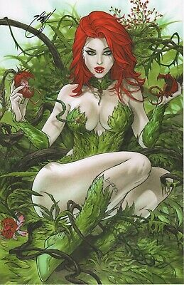 Poison Ivy & Her Children Art Print - Signed By Ebas *New 2019*  11X17