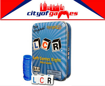 LCR - Left Center Right Blue Tin Dice Game Brand New