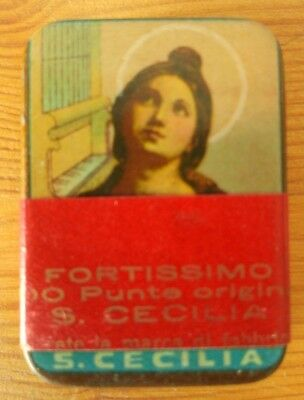 "Very rare ""S. Cecilia"" gramophone needles tin full puntine grammofono Excellent"