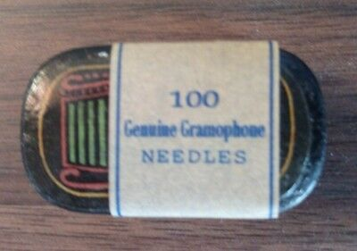 "Very rare ""Genuine Gramophone"" needles tin full puntine grammofono Excellent"