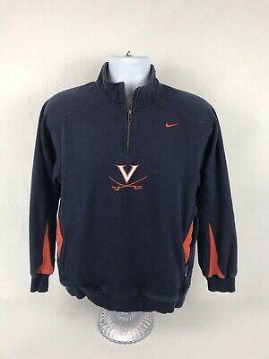 3c263b4c6cf0 VTG Nike Team NCAA Virginia Cavaliers 1 4 Zip Pullover Sweatshirt Size Small