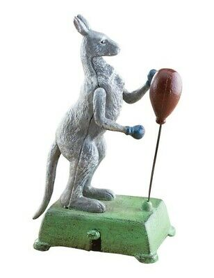 Victorian Trading Co Replica Cast Iron Barnaby The Fighting Kangaroo Toy