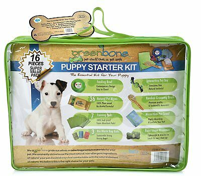 Greeenbone Puppy Starter Kit Boy Blue Equipped with all Essential Pet Needs Nip