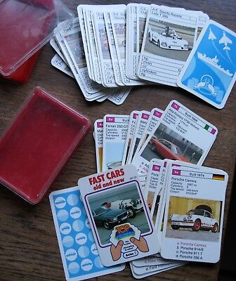 2 Packs Vintage Fast Cars + Sports Racers Top Trumps Games