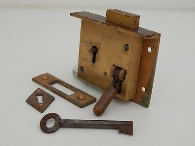 Vintage reclaimed Bank Till / Draw lock with Quick keyless locking button c1900