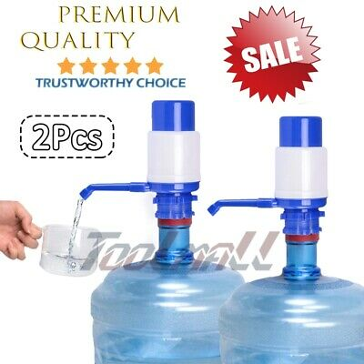 2 Pack Hand Pump Dispenser w/ Pipes for 5-6 Gal Gallon Bottled Plastic Water Jug