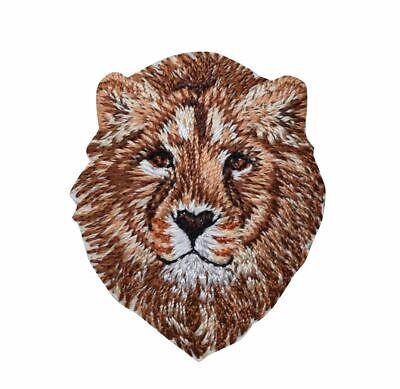 Lion Head Embroidered Patch//Iron on Applique King of the Jungle African