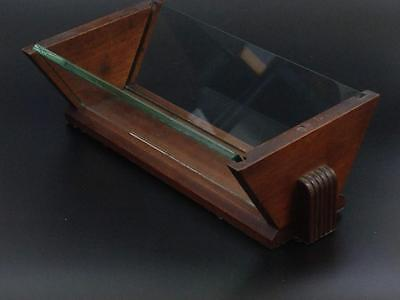 Art Deco wood and glass Display for Fruit or Sweets