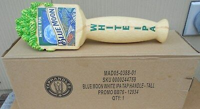 BLUE MOON WHITE IPA ALE 3 SIDED FIGURAL BEER TAP HANDLE NEW IN BOX 10 inch