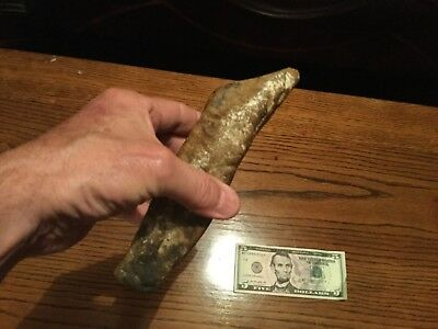 Native American stone hoe old original as found in cave in alabama