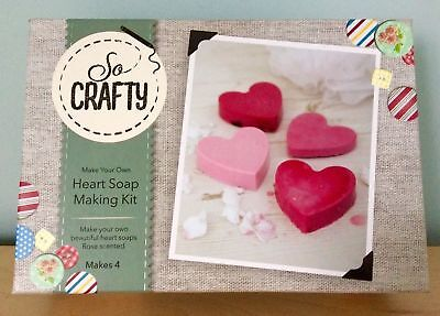 Heart Soap Making Kit By So Crafty Rose Scent Handmade Craft Brand New & Tagged!