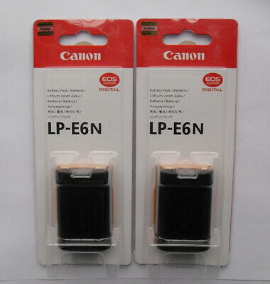 2Pcs LP-E6N Original Battery For Canon EOS 5D 6D 7D Mark II III 70D 60D 60Da