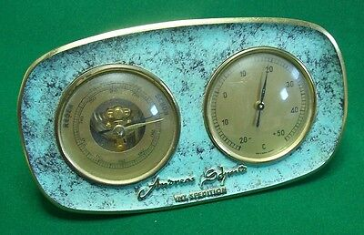 Messing Patina Wetterstation Barometer Thermometer Andreas Schmid Spedition