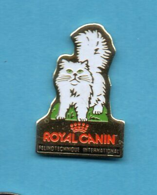 Pin's Félin KATZE CAT GATO GATTO KAT KOTA ROYAL CANIN  CHAT BLANC Signé RARE