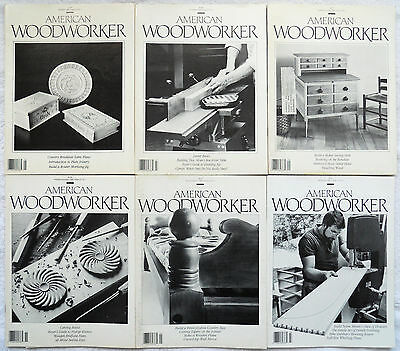 (6) Vintage/Early  AMERICAN WOODWORKER magazines from 1988-1989
