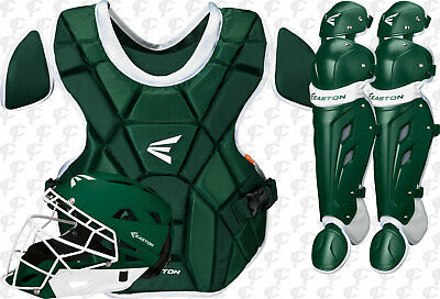 Easton Mako-M7 Softball Fastpitch Catchers 3 pc. Set-Kit Women's Dark Green