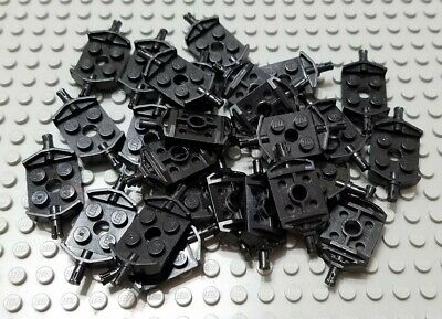 LEGO Lot of 8 Black 2x2 Car Axle Pin Plate Pieces