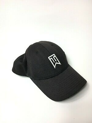 a64e340ae4603 Adult Nike Tiger Woods Collection TW Black White FlexFit S M Stretch Golf  Hat