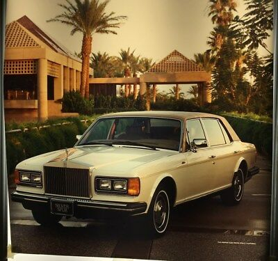 Vintage Rolls Royce Silver Spur Ad 4 color Transparency 1980's. One-of-a-kind