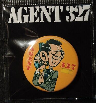 Pin Button Badge Ø38mm    ( AGENT 327 ) #1