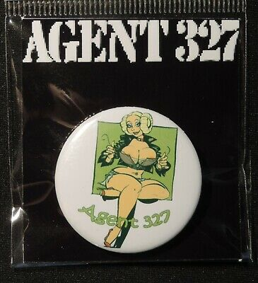 Pin Button Badge Ø38mm    ( AGENT 327 ) #2