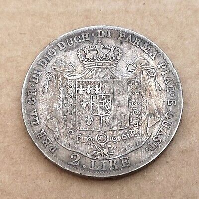 2 Lire 1815 from Parma, Italy C# 29 (Only 22k were minted, 0.900 Silver)