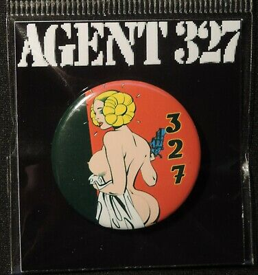 Pin Button Badge Ø38mm    ( AGENT 327 ) #5