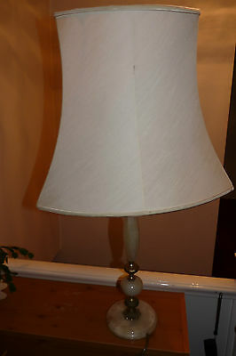 VINTAGE LAMP BRASS & ONYX - 50cm TALL -  GREAT OLD  ITEM LOOK