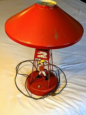 Vintage Johnnie Walker Red #2 Buoy Scotch Whisky Nautical Advertising Bar Lamp