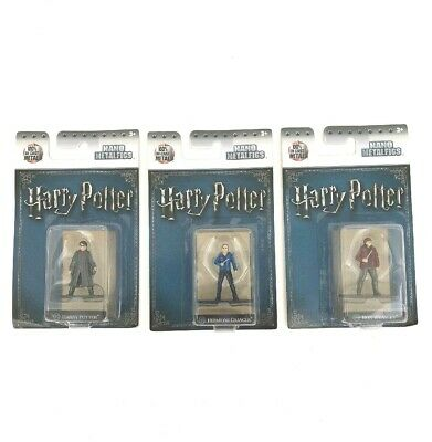 Harry Potter Nano Metalfigs 100% Die-Cast Harry Hermione Ron Collectible Figures