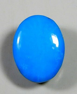 17Ct Natural Ring Size Sky Sleeping Beauty Turquoise Oval Cabochon Gemstone A359
