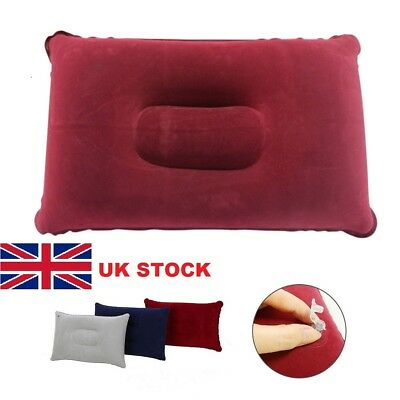 Inflatable Pillow Travel  Cushion Camping Beach Plane Head Rest Support Plane