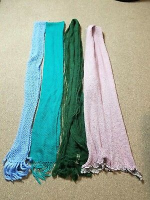 Lot Of 4 Women's Assorted Colors Super Soft Long Scarves Nwt & Pre-Owned