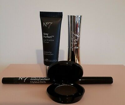 Boots No7 Starry Eyes Gift Box Eye Shadow. Lash Extender; Primer  & Eye Pencil