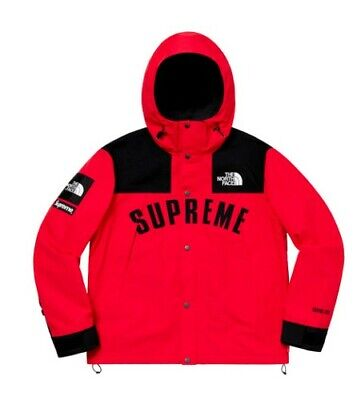 d0f409456 SS19 SUPREME X The North Face Arc Logo Mountain Parka Red Size XL IN ...