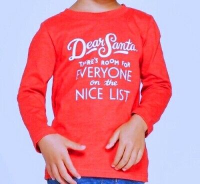 Boys 12 Mo Red DEAR SANTA, THERE'S ROOM FOR EVERYONE ON THE NICE LIST Shirt