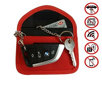 Signal Blocking Car Key Pouch Red