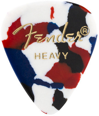 Fender Premium Celluloid Heavy Guitar Picks - 12-pack confetti heavy