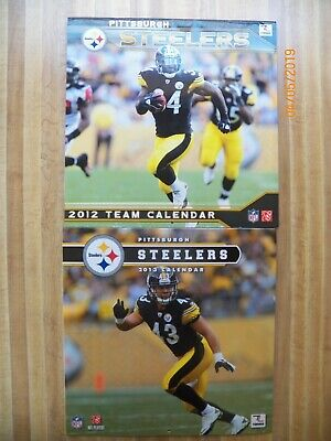 2 Pittsburgh Steelers calendars 2012 2013 NFL players pictures football schedule