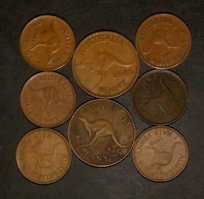 Small lot of Australian pennies and halfpennies
